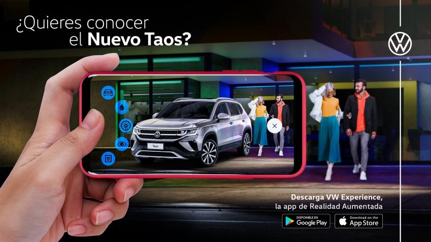 VW Experience, la app de realidad aumentada de Volkswagen que permitirá conocer el nuevo Taos antes de su lanzamiento