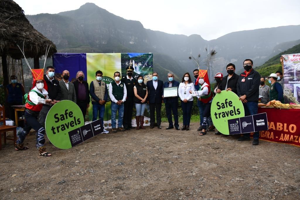 Gocta – Kueláp recibe diploma que lo ubica en los principales destinos sostenibles del mundo